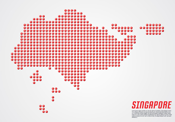 Singapore 3D Dotted Map - Free vector #435079
