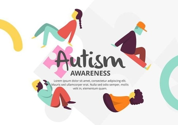 Autism Background - Free vector #435089