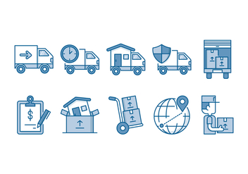 Moving Service Icon Set - vector #435099 gratis