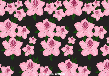 Rhododendron Vector Pattern - Free vector #435109