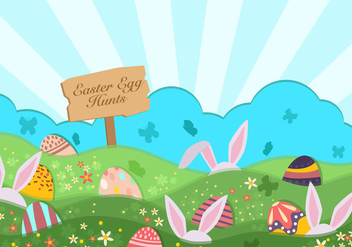 Easter Egg Hunt Background - Free vector #435229