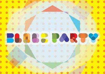 Block Party Typography Background - vector #435249 gratis