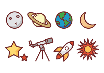 Astronomy Icon Pack - vector gratuit #435269