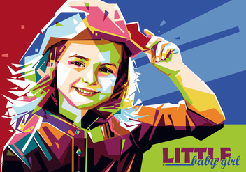 Little Baby Girl vector WPAP - vector gratuit #435299
