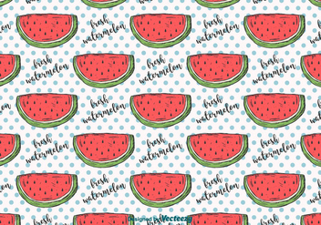 Hand Drawn Watermelon Pattern - бесплатный vector #435309
