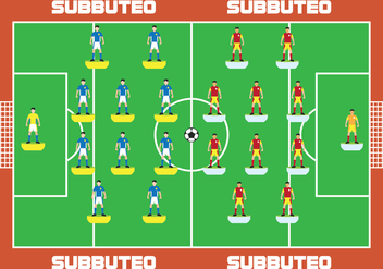 Subbuteo Game Player - vector gratuit #435319