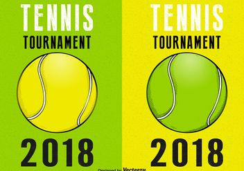 Tennis Tournament Retro Vector Posters - Free vector #435349