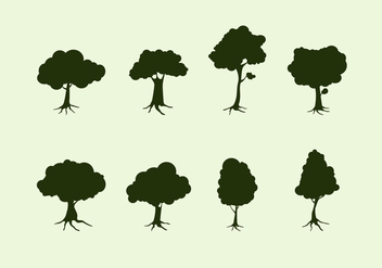 Silhouette Tree With Roots Free Vector - Free vector #435369