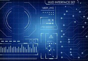 Futuristic HUD Interface Set - Free vector #435419