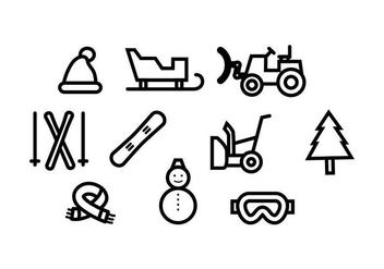 Free Winter Line Icon Vector - vector #435429 gratis