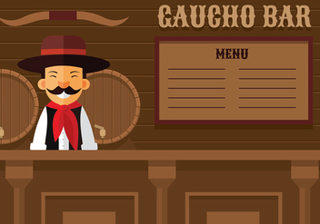 Gaucho Bar Free Vector - бесплатный vector #435449
