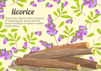 Licorice Root And Flower Vector - Free vector #435469