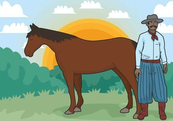 Gaucho vector illustration - vector #435479 gratis