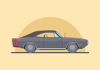 Dodge Charger Illustration - Free vector #435579