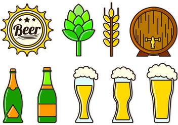 Set Of Cerveja Icons - Kostenloses vector #435599