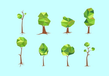 Polygonal Tree With Roots Free Vector - Kostenloses vector #435619