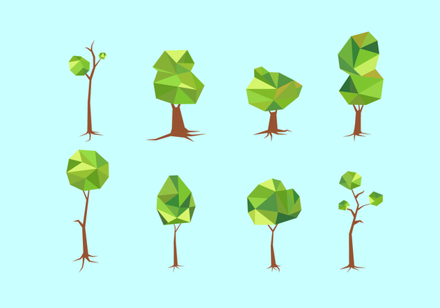 Polygonal Tree With Roots Free Vector - vector #435619 gratis