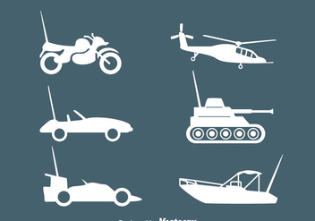 Rc Vehicle Silhouette Vectors - Free vector #435759