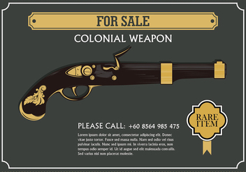Colonial Weapon Free Vector - vector gratuit #435799