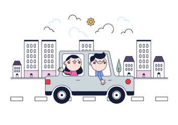 Free Carpooling Vector - Free vector #435819