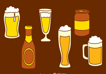 Hand Drawn Glass Beer Vector - бесплатный vector #435849