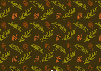 Pine Cones And Leaves Seamless Pattern Vector - Kostenloses vector #435859