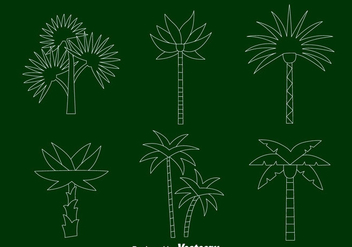 Palm Tree Line Vectors - Free vector #435919