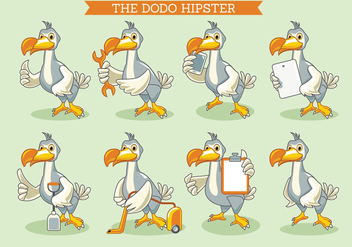 The Dodo Bird Illustration Hipster Style - бесплатный vector #435939