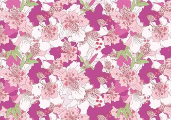 Rhododendron Pink Pattern Vector - Free vector #435979
