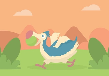 Dodo Illustration - vector #435989 gratis