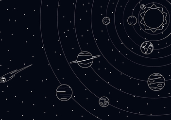 Outline Solar System Free Vector - Free vector #435999