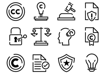 Free Copyright Icons Vector - Kostenloses vector #436009