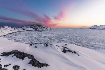 Pack ice after sunset - image #436059 gratis