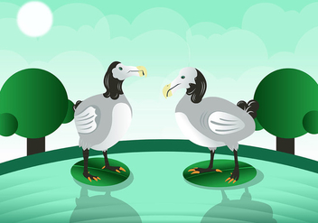 Beautiful Dodo Bird Vector - Free vector #436159
