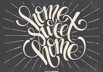 Typographic Home Sweet Home Illustration - vector #436169 gratis