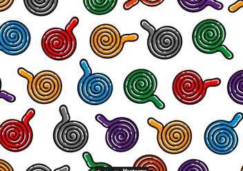 Licorice Candy Vector Seamless Patterns - Free vector #436189
