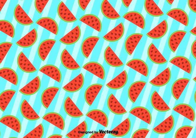 Cute Background Of Watermelon - Vector Pattern - Free vector #436259