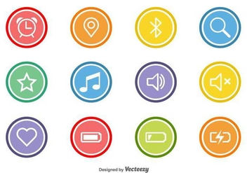 Vector Flat Icons For Web And Mobile - vector #436269 gratis