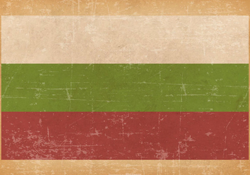 Flag of Bulgaria on Grunge Background - Free vector #436289