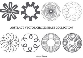 Abstract Circle Shape Collection - vector gratuit #436299
