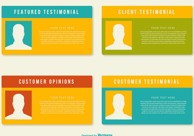 Customer Testimonial Templates - бесплатный vector #436309