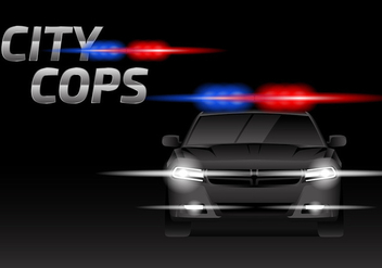 Dodge Charger Cop Free Vector - бесплатный vector #436329