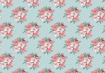 Rhododendron Classic Pattern Vector - Free vector #436339