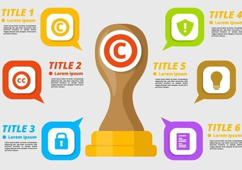 Free Copyright Infographic Vector - бесплатный vector #436359