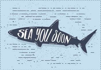 Free Vector Shark Silhouette Illustration With Typography - Free vector #436399
