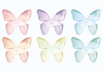 Vector Hand Drawn Butterflies Collection - vector gratuit #436419