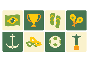 Brazil Icon Pack - vector gratuit #436479