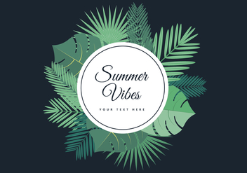 Free Tropical Summer Palm Vector Background - Free vector #436499