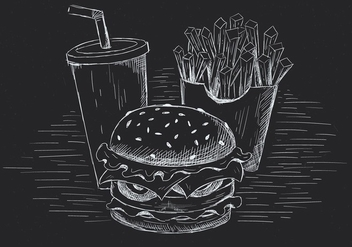 Free Hand Drawn Vector Burger Illustration - vector gratuit #436509