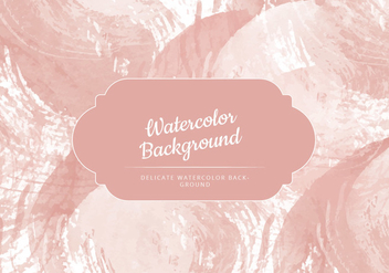 Vector Delicate Watercolor Background - vector gratuit #436619